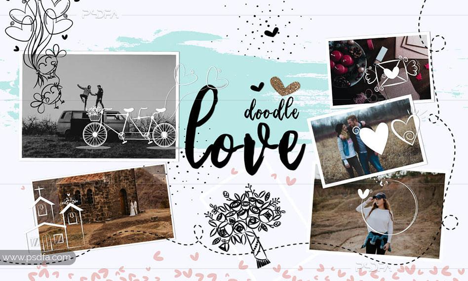 افکت عاشقانه متحرک دودلی بر روی عکس و تصاویر در فتوشاپ + آموزش