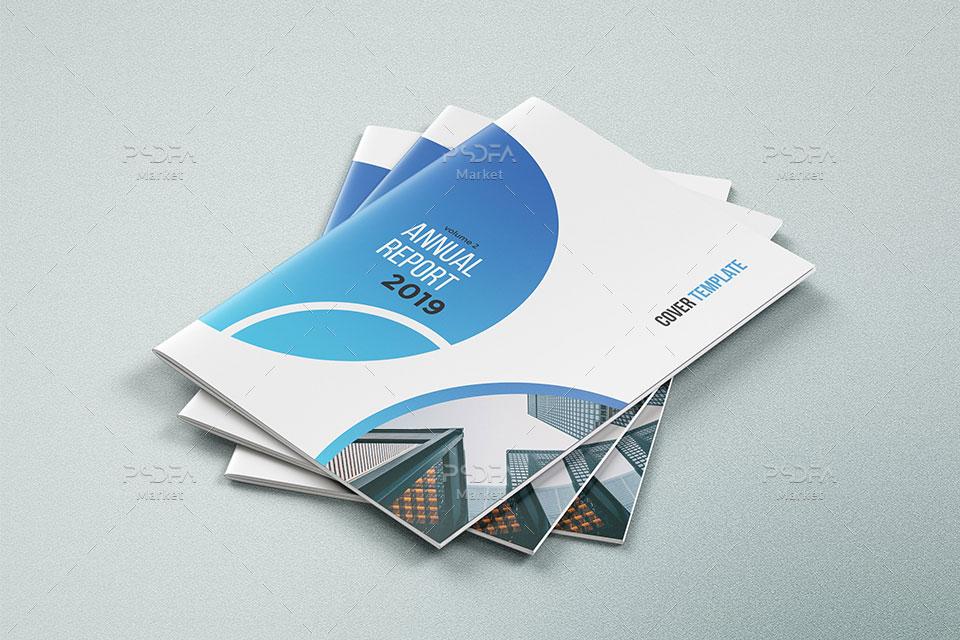 قالب لایهباز و آماده بروشور دو لت شرکتی با فرمت PSD