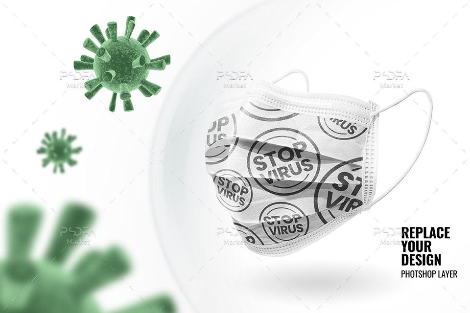 موکاپ ماسک پزشکی محافظت از بیماری و ویروس لایهباز