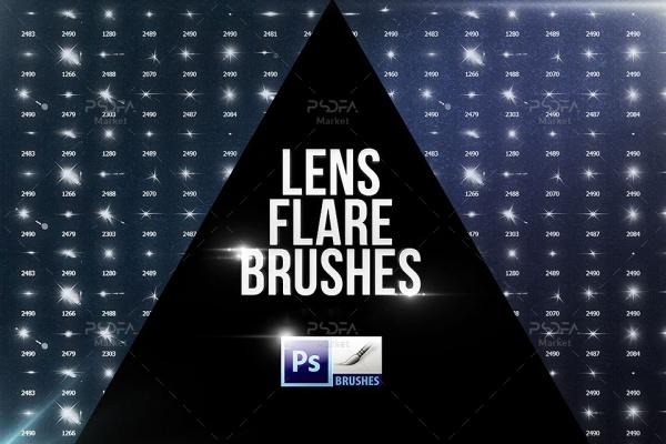 براش افکت نور لنز و ستاره برای فتوشاپ با کیفیت بالا