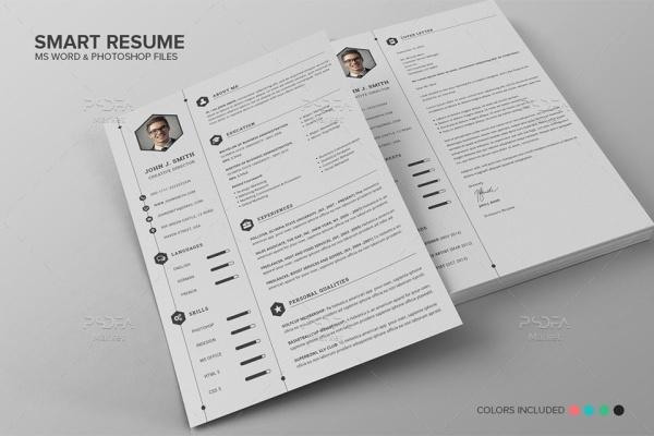 طرح لایهباز و فرم خام رزومه حرفهای برای فتوشاپ و آفیس ورد