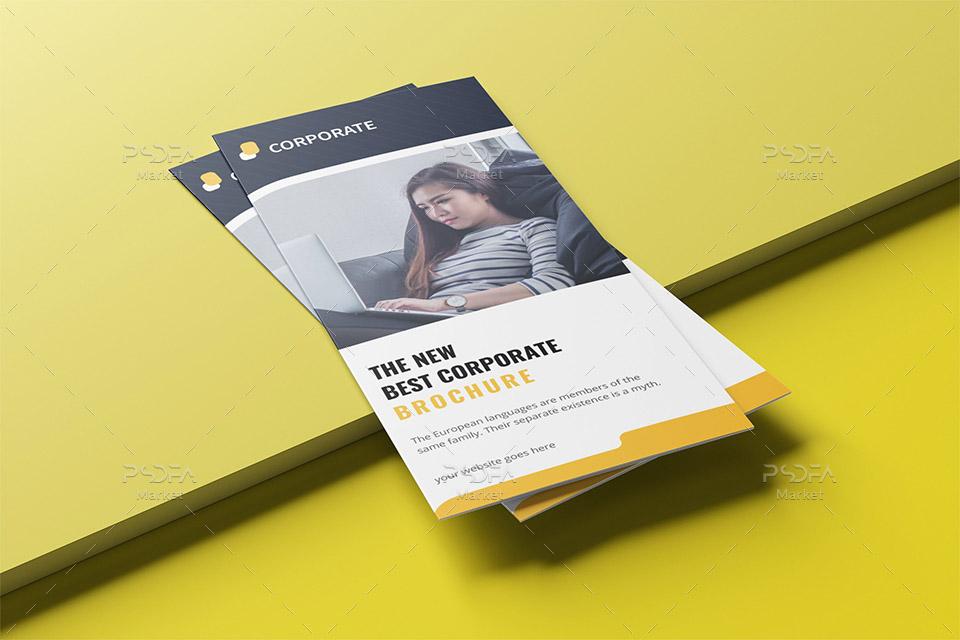 طرح وکتور بروشور سه لتی شرکتی با فرمت EPS, AI, PDF