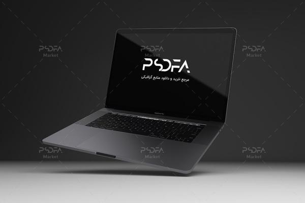 موکاپ Macbook Pro شناور و معلق لایه باز برای فتوشاپ
