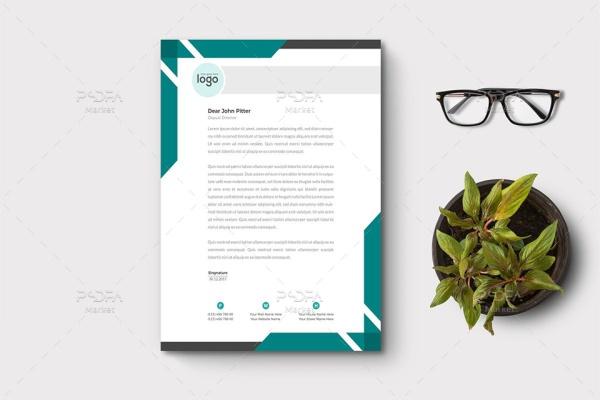 طرح وکتور سربرگ شرکتی لایهباز برای ایلوستریتور