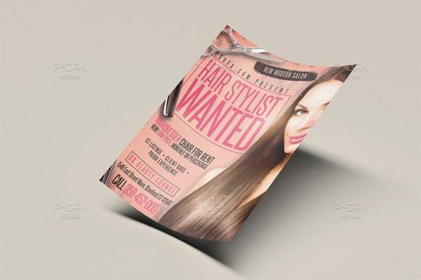 تراکت آرایشگاه زنانه لایه باز PSD قابل ویرایش در فتوشاپ