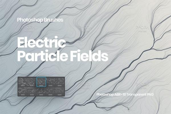 براش خطوط و امواج الکتریسیته ترنسپرنت برای فتوشاپ با فرمت ABR, PNG