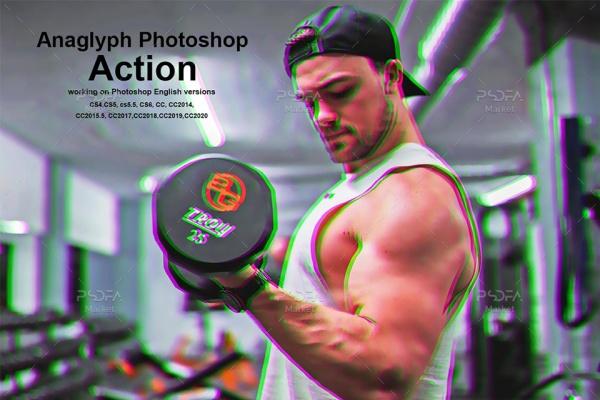 ایجاد افکت آناگلیف بر روی عکس و تصاویر در فتوشاپ با استفاده از اکشن