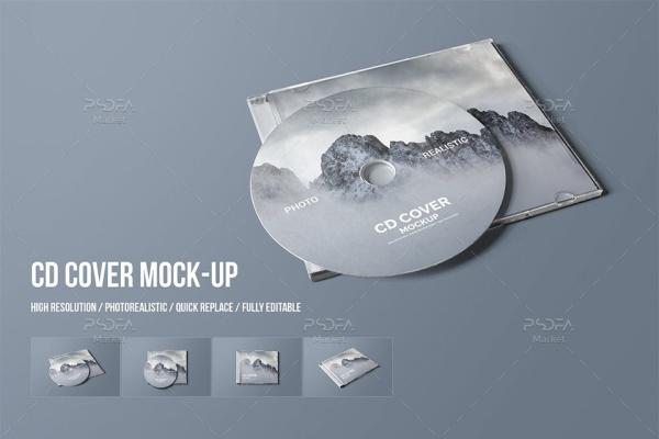 موکاپ کاور CD و DVD