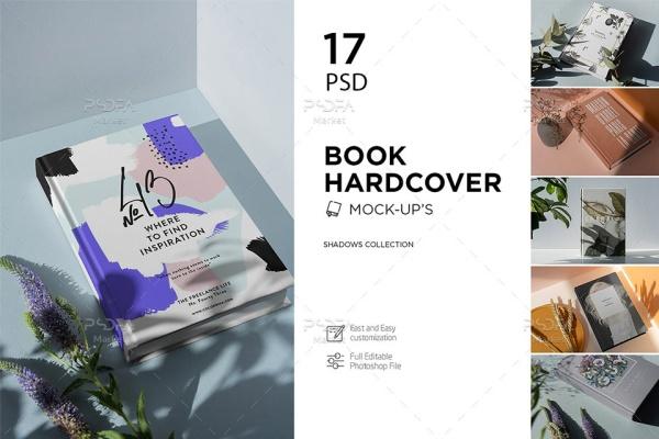 17 موکاپ کتاب و جلد کتاب شیک و لاکچری با انواع افکت سایه