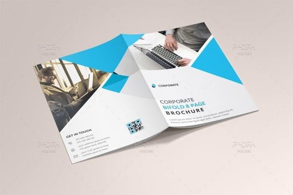 طرح وکتور بروشور شرکتی 8 صفحهای قابل ویرایش در ایلوستریتور
