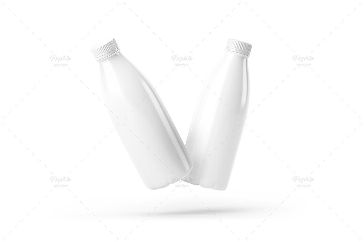 موکاپ بطری پلاستیکی شیر و نوشیدنی
