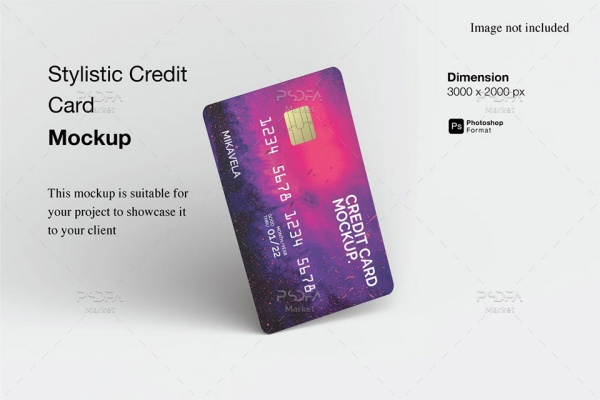 موکاپ کارت عابر بانک و کردیت کارت
