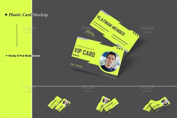 موکاپ انواع کارت اعتباری پلاستیکی