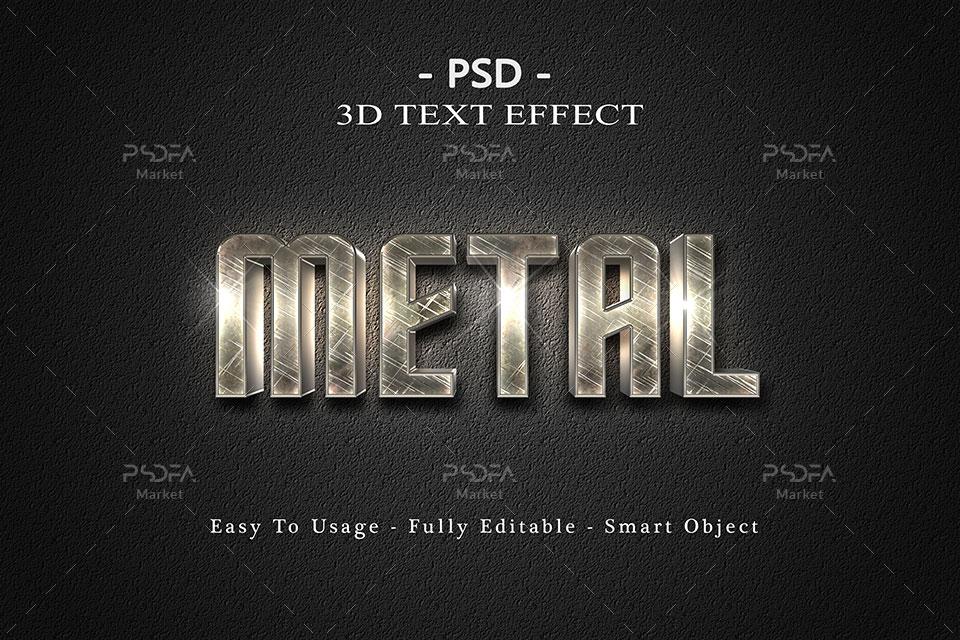 افکت و استایل سه بعدی متن