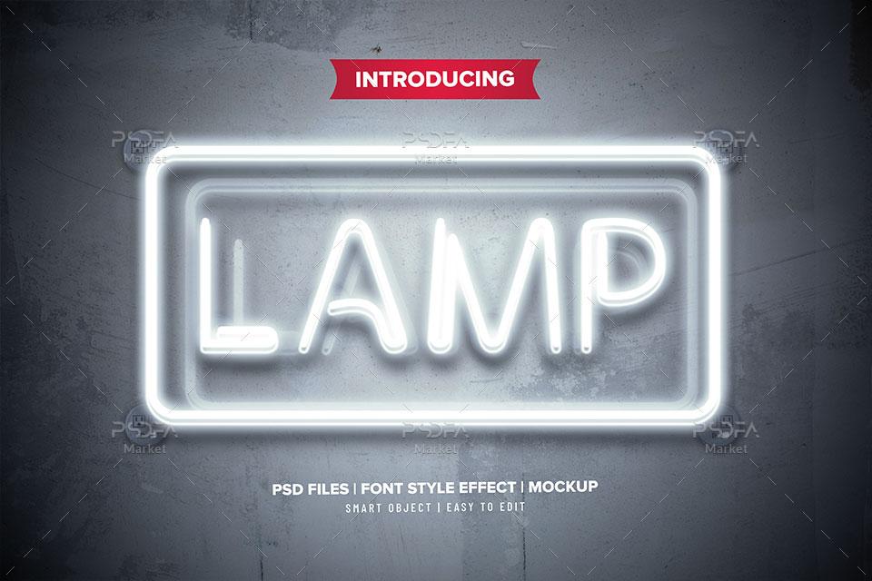 افکت متن لامپ
