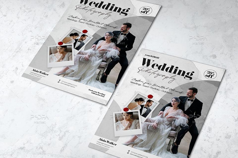 تراکت آتلیه و عکاسی عروس و داماد