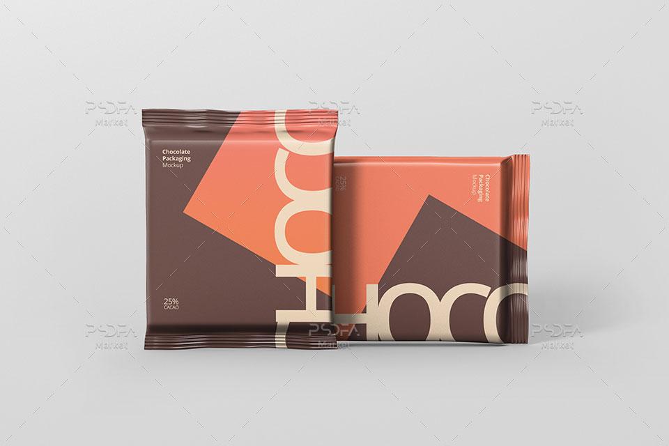 موکاپ بسته بندی شکلات تخته ای