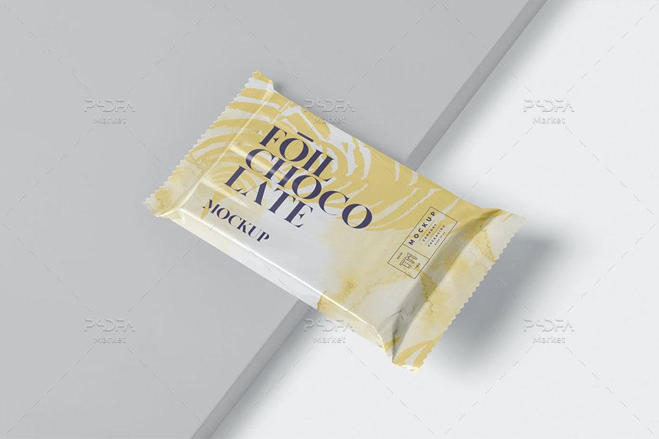 موکاپ بسته بندی فویلی شکلات