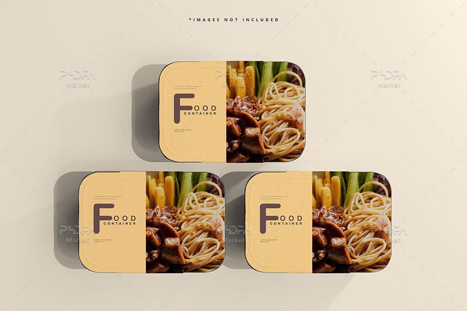 موکاپ ظرف یکبار مصرف غذا
