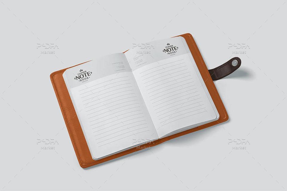 موکاپ دفترچه یادداشت چرمی
