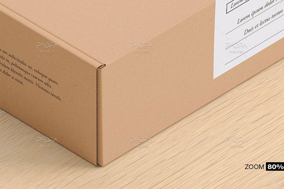 موکاپ کارتن بسته بندی محصول