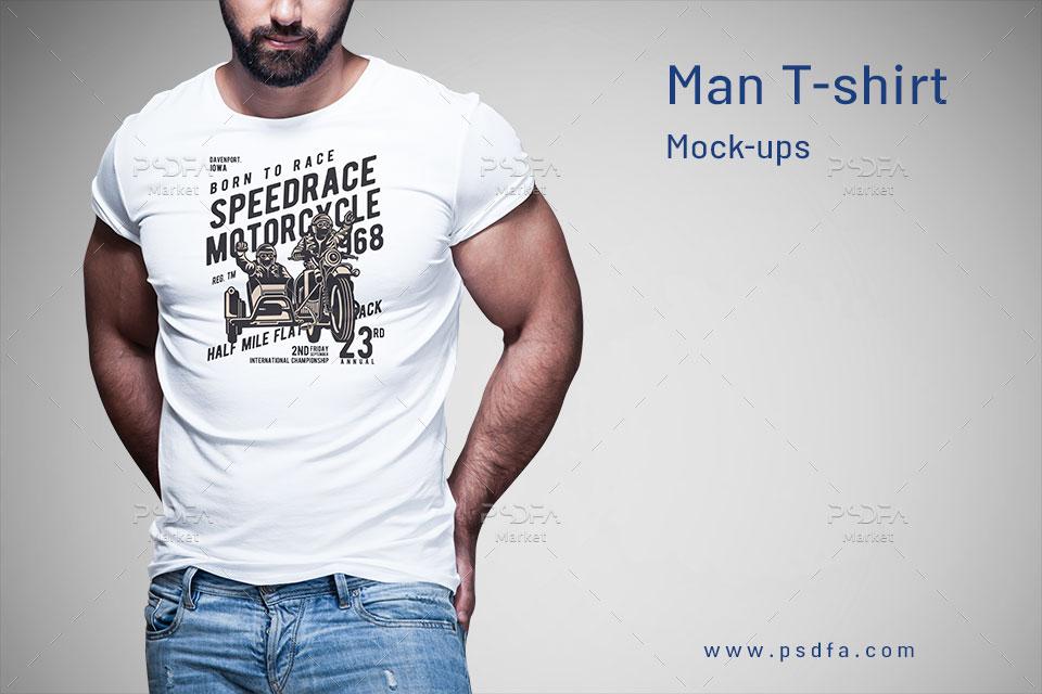 موکاپ تیشرت مردانه