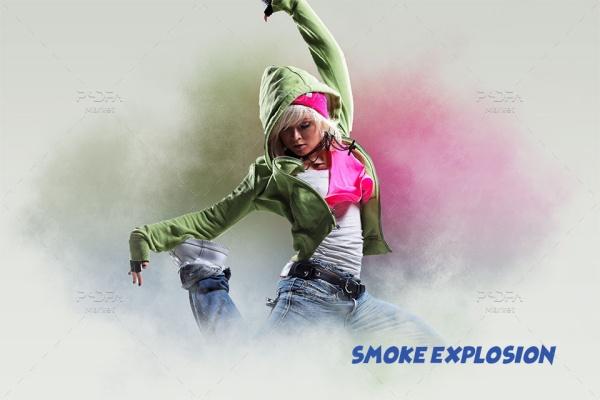 افکت انفجار دود Smoke Explosion