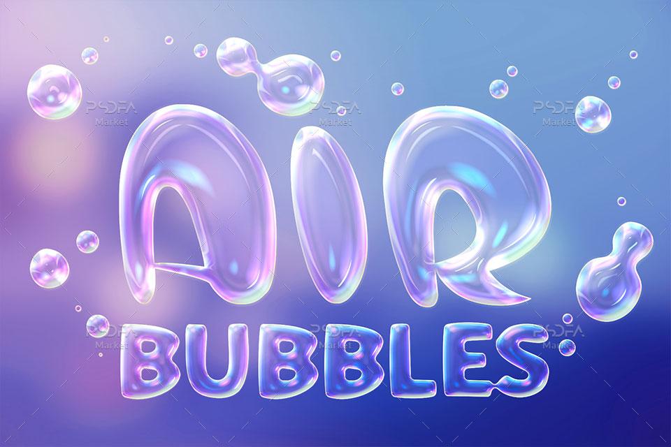 افکت حباب صابون