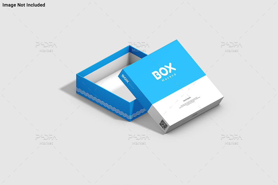 موکاپ جعبه و کارتن مربعی