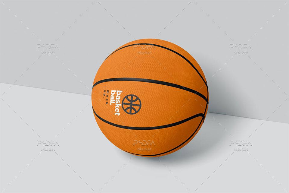 موکاپ توپ بسکتبال