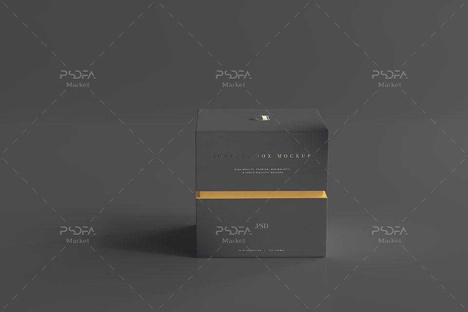 موکاپ جعبه طلا و جواهرات