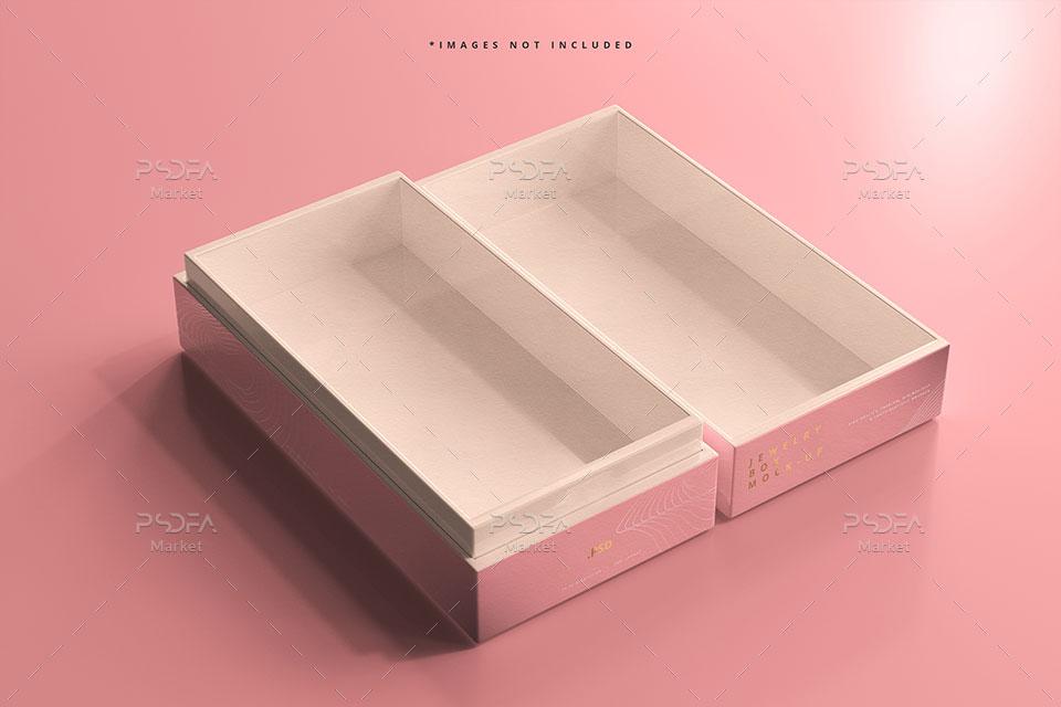 موکاپ جعبه جواهر طلا و بدلیجات