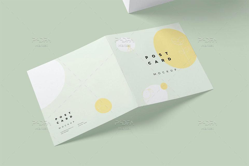 موکاپ کارت پستال