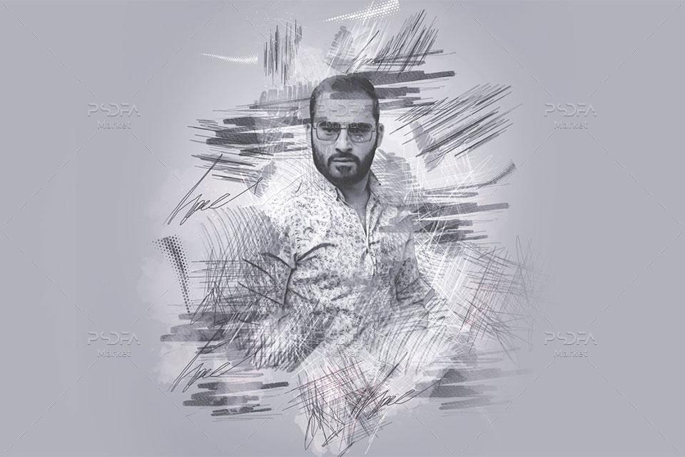 تبدیل عکس به نقاشی خط خطی