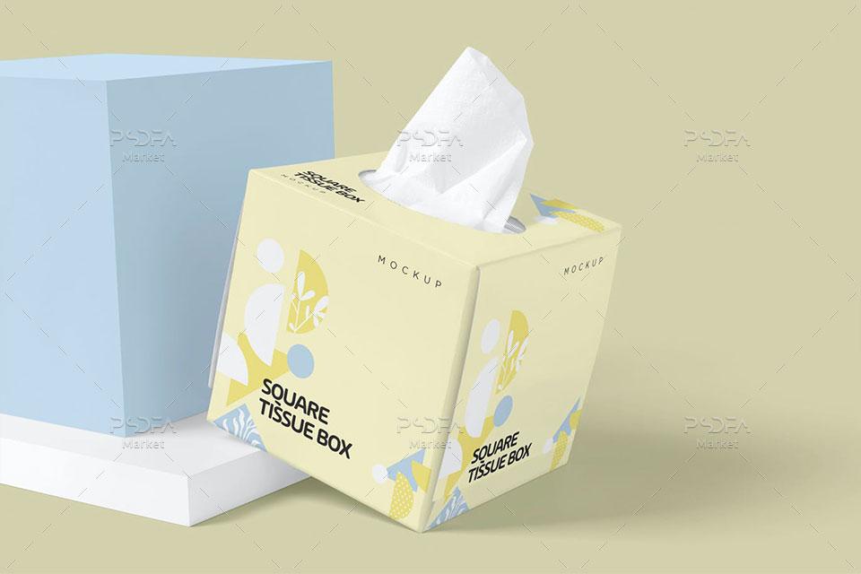 جعبه دستمال کاغذی مربعی