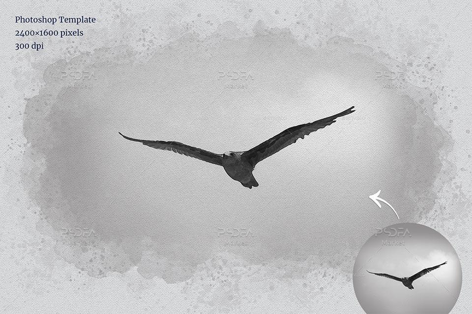 تبدیل عکس به نقاشی آبرنگی در فتوشاپ