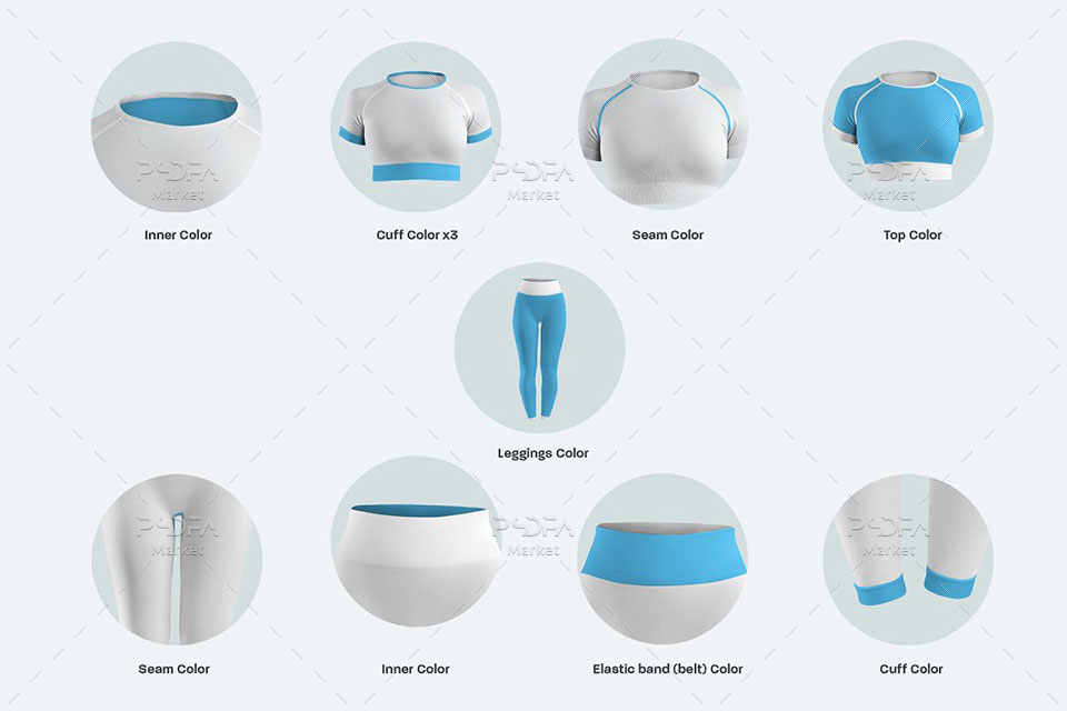 موکاپ تاپ و شلوار ساق پوش ورزشی و اسپورت زنانه