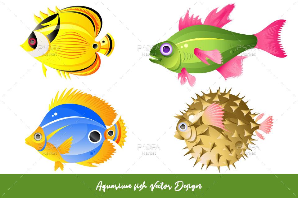 وکتور ماهی آکفاریومی