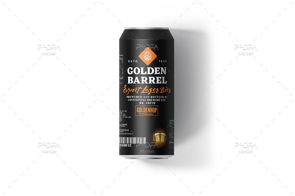 موکاپ قوطی فلزی دلستر و انواع نوشیدنی