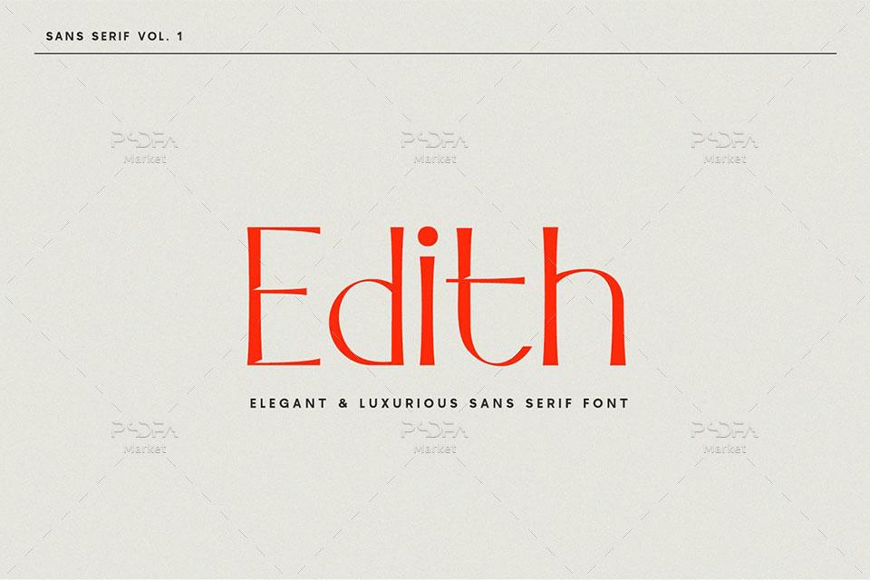 فونت انگلیسی سنس سریف Edith Sans