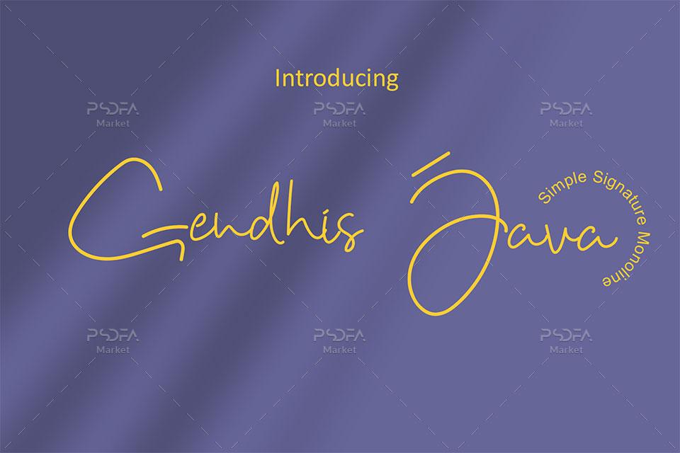 فونت دستنویس انگلیسی Gendhis Java