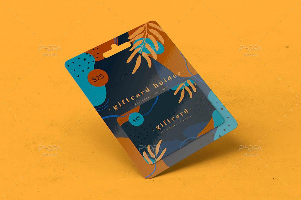موکاپ گیفت کارت یا کارت هدیه