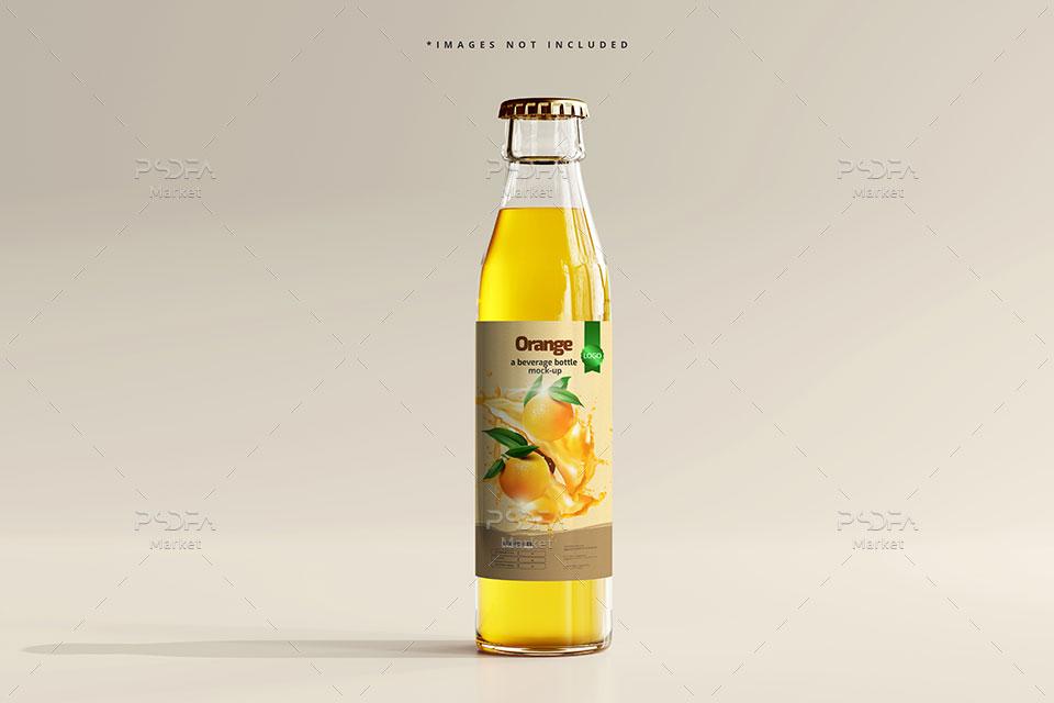 موکاپ بطری شیشهای نوشیدنی و مایعات
