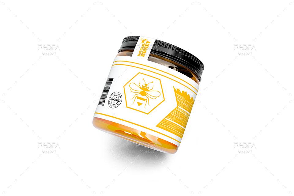 موکاپ بطری و ظرف عسل