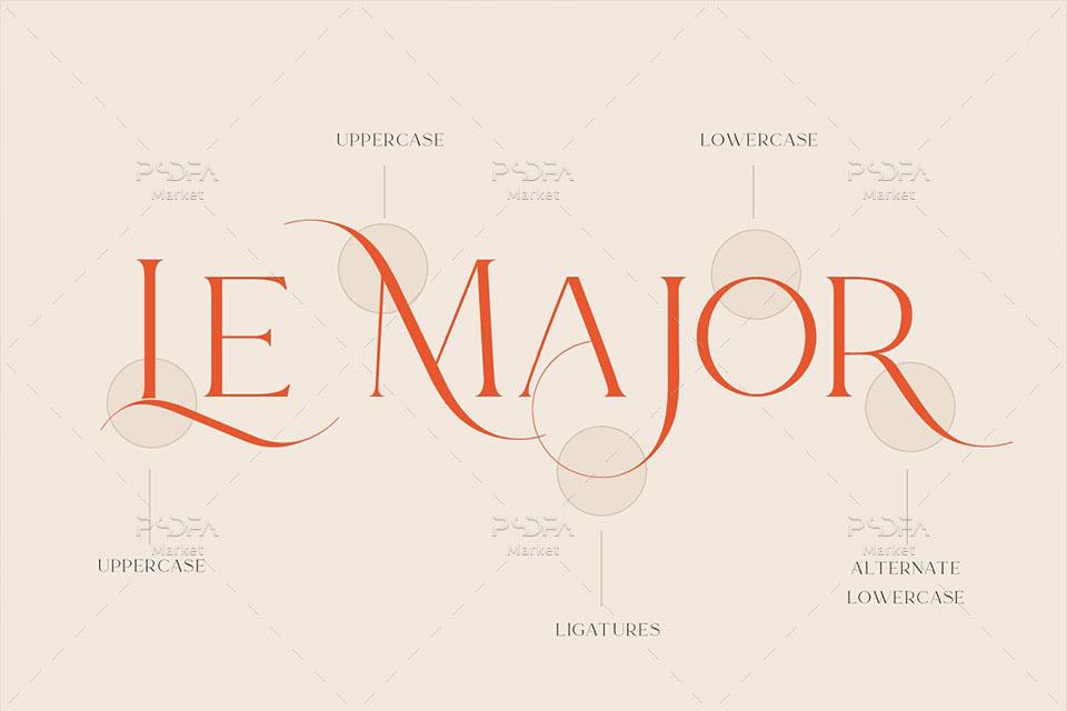 فونت انگلیسی نمایشی سریف Le Major