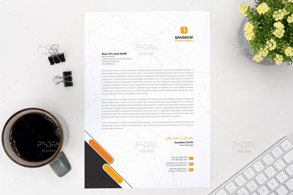 طرح لایه باز سربرگ اداری PSD