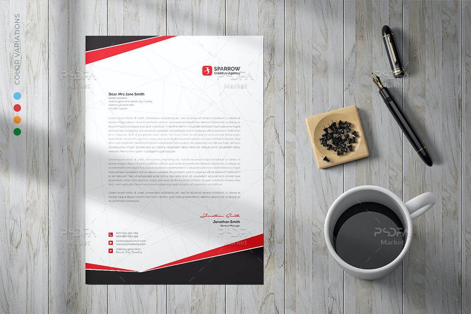 فایل لایه باز سربرگ شرکتی PSD