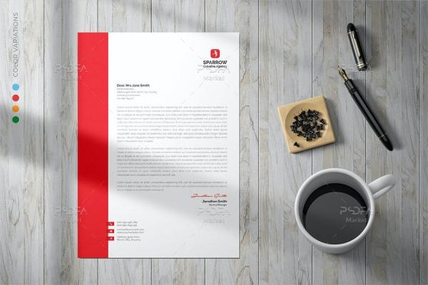 طرح لایه باز سربرگ شرکتی PSD