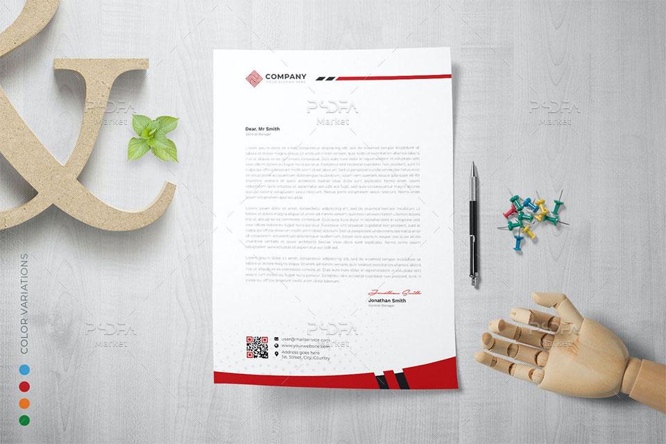 فایل لایه باز سربرگ شرکتی و اداری PSD