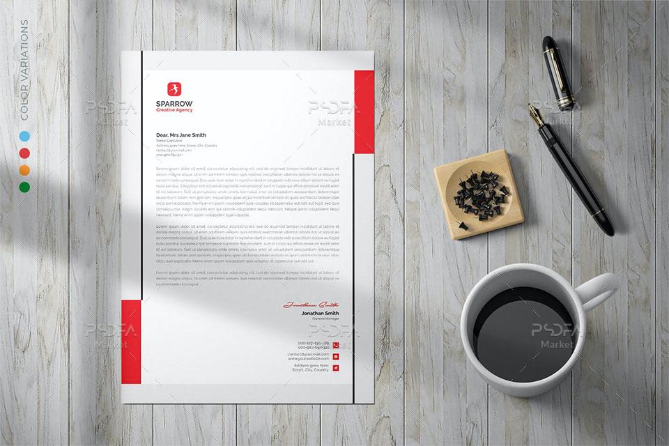 فایل PSD سربرگ اداری و شرکتی لایه باز